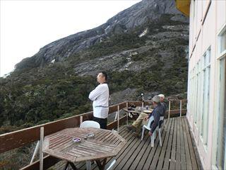山小屋からは絶景が